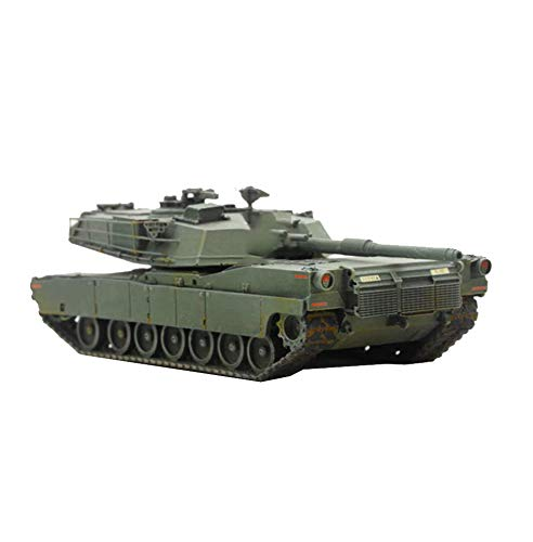 CMO Maqueta Tanque de Guerra, WWII Tanque de Batalla Principal de Alemania M1 Abrams Abrams el Plastico Militares Escala 1/87, Juguetes y Regalos para Niños