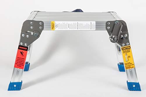 MaxWorks 80773 Foldable Platform & Step Stool, Aluminum