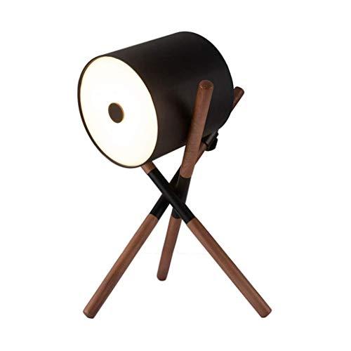 KANULAN - Estudio, salón nórdico, moderno, simple, dormitorio de madera maciza, lámpara de pie de nogal negra (color A)