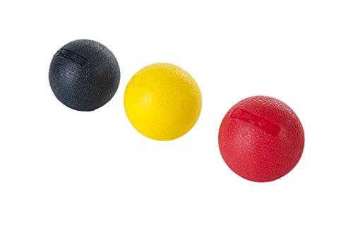 Pure 2Improve Massageball Set, weich(gelb), medium(rot) und fest(schwarz)