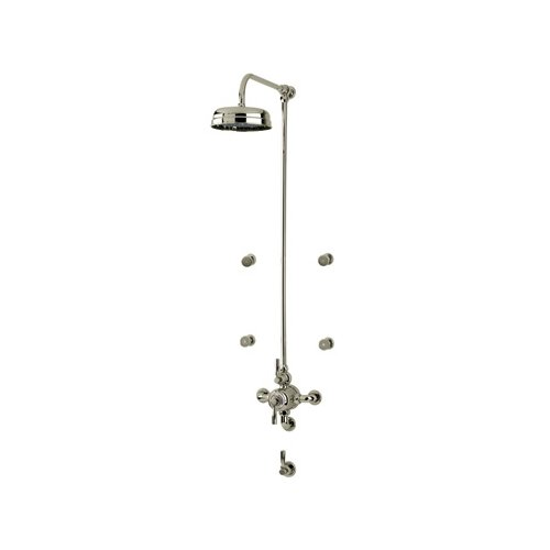 Best Bargain Rohl U.KIT83LS-STN Kit Perrin & Rowe Transitional Shower Package with Cross Handles inc...