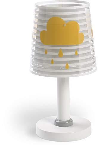 Dalber Light Feeling Lámpara Infantil Mesilla Nubes, 40 W, Gris