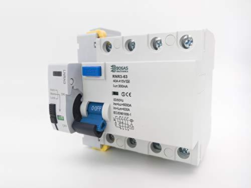 Interruptor Diferencial Trifasico (3P+N) Auto Rearmable Super Inmunizado (300 mA)