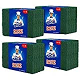 MR.SIGA Heavy Duty Scouring Pads, Household Scrubber for Kitchen, Sink, Dish, 24-Pack, 3.9...