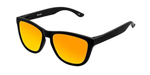 HAWKERS - Gafas de sol para hombre y mujer ONE , Negro / Naranja