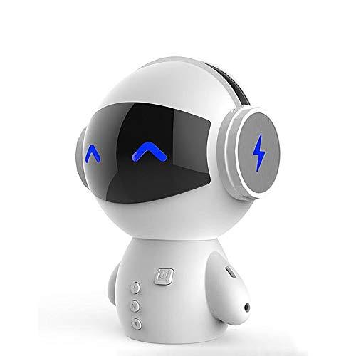 LIAOYUN Bluetooth-Lautsprecher Roboter-Lautsprecher Kleine Subwoofer kreativer elektronisches Geschenk Mobile Power Super Bass freihändiger Anruf MP3-Player-kompatible Smart Device Portable (weiß) LIA