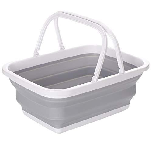 namisen 折りたたみバケツ 大容量10L 洗い桶 たらい 四角 大型 衣類・靴 つけ置き洗い キッチン アウトドア 取っ手付き