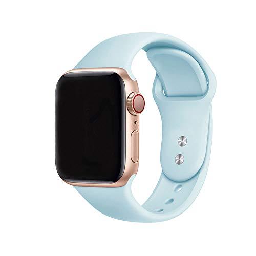 Antidote Correa para Apple Watch 42 mm 44 mm, banda de silicona para iWatch Serie 6/5/4/3/2/1 (Tiffany)