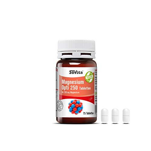 Sovita active Magnesium Opti 250 Tabletten, mit 250 mg Magnesium, veganes Nahrungsergänzungsmittel, 75 Tabletten