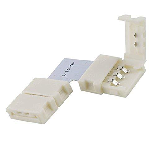 Flexband Clip-ECK-Verbinder 3-polig, weiss für Breite 10mm - LED Lichtband Montage, LED Band Installation, LED Stripes Zubehör von Isolicht