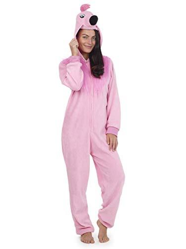 Pijama Entero Mujer con Unicornios Koala Perro Gato Koala Dinosaurio Pijamas de Animales Onesie Todo en Uno (S, Flamenco)