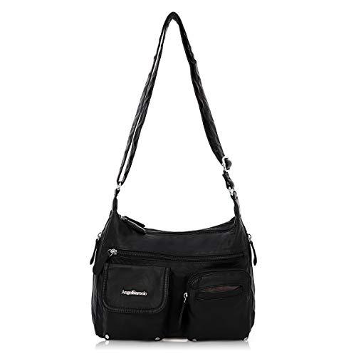 Angel Barcelo Crossover Geldbörse und Handtaschen Umhängetaschen für Frauen, Ultra Soft Leather...