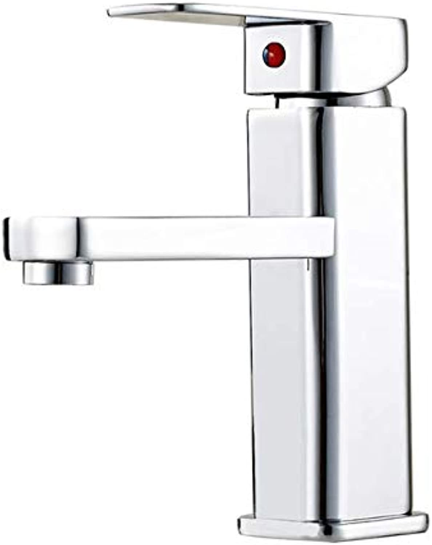Copper hot and Cold Faucet washbasin washbasin washbasin Art Basin Heightening Short Single Hole Square
