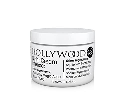 Night Cream INTENSE - Tratamiento nocturno para el acné. 400% más FUERTE que cremas para el acné regulares. Envase de 50ml