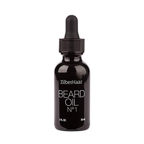 ZilberHaar Beard Oil №1  Pure Organic Moroccan Argan and Jojoba Oil for Natural Beard Growth and Hydration  1 oz  Free Beard Comb Gift