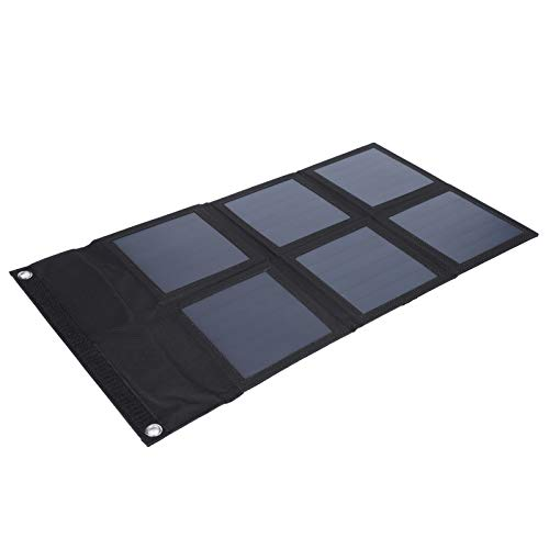 Fockety Bolsa Solar Plegable, Viene con 2 mosquetones, luz de Salida Estable y Panel Solar Plegable fácil de Transportar, para Hombre Mujer