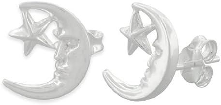 Stars Sterling Silver Stud Earrings BOXED
