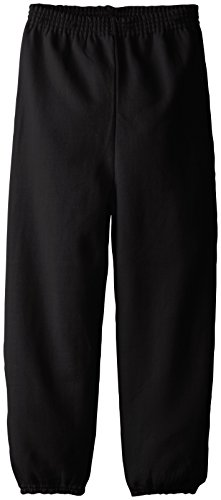Hanes Big Boys' Eco Smart Fleece Pant, Black, Medium