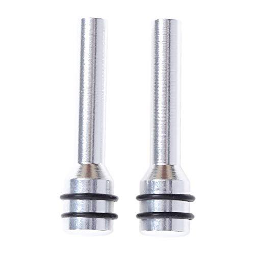 YSHtanj Auto Deurvergrendeling Pin Externe Gewijzigde Lock Pin 2 Stks Aluminium Universele Auto Vrachtwagen Interieur Veiligheid Deurvergrendeling Pins - Zilver ZILVER