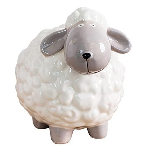 Piggy Bank Sheep Ceramic Coin Piggy Bank  Savings Toy Bank for Kids Animal Relief Piggy Bank Money Box  Birthday Gift  23x17x15cm Gift