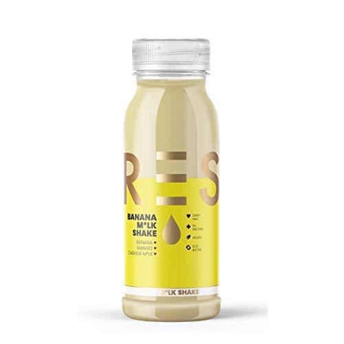Press, 6 x 250ml Banana Milkshake, Dairy Free, Vegan, Healthy & Nutritional, Cold Pressed & Freshly Bottled, No Preservatives, No Added Sugar
