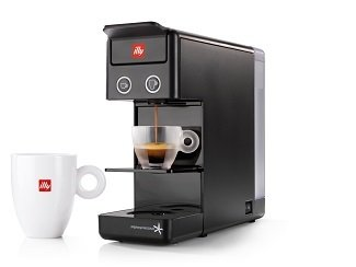 Illy y3.2 Espresso and Coffee Machine, 12.20x3.9x10.40, Black