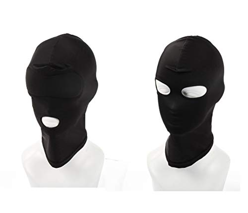 2 Unids/set Elástico negro transpirable cubierta facial con los ojos...