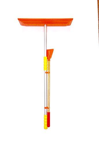"SNO Rake - Model #117-18"" Rake/47 Telescoping Aluminum Handle w/Ice Scraper (Made in USA!)"