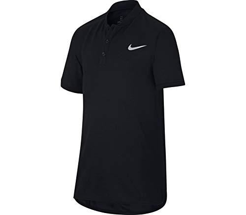 Nike Jungen Court Poloshirt, Black/(Black), M