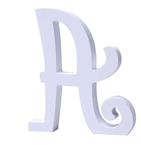 Letras y números de madera alfabeto para decoración 15cm - A