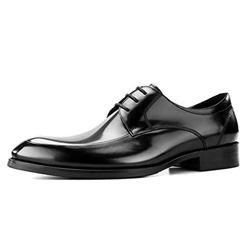 Sdmcdamzzy Herren-Hochzeits-Derby-Schnürschuhe, klassisch, formelle Industrial-Schuhe, schwarz, EU37 thumbnail