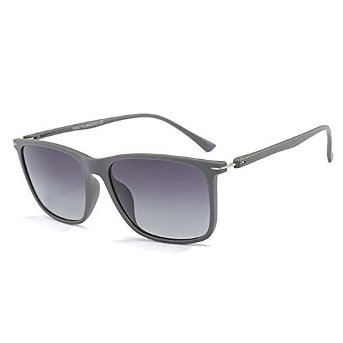 xzl Gafas de Sol polarizadas para Mujeres Hombres Gafas cuadradas Ligeras UV 400 Protección, Estilo clásico de diseñador Retro, para la Pesca de conducción, C