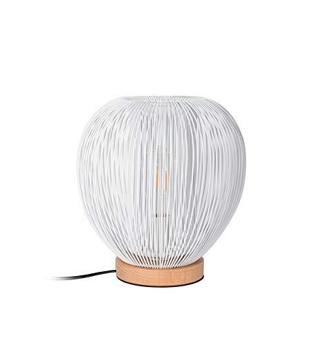 THE HOME DECO LIGHT Vloerlamp LA12050 Bal met draad - Wit M4