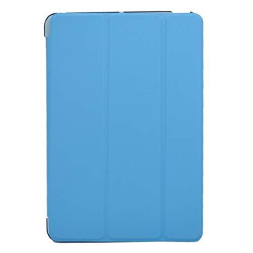 Nouveau Ultra Slim Tri-Fold PU Housse en Cuir avec Crystal Hard Back Smart Stand Housse pour iPad Mini 1 2 3 Tablette Flip Cover (Bleu Ciel) Kaemma