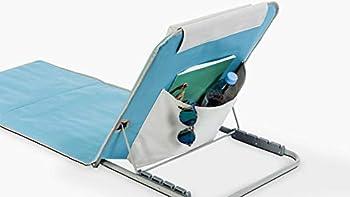 Innov'axe - Clic Clac - Chaise de Plage - Mixte Adulte - Multicolore (Bayadère Bleu/Blanc) - 134 x 48 x 40