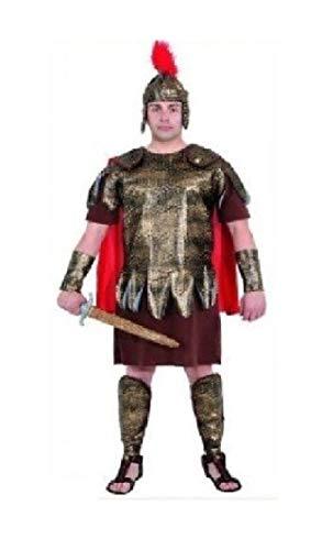 O7232-50-52-A - Disfraz de gladiador romano para hombre, talla 50-52