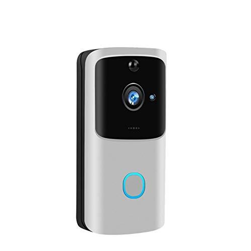 YOUCHOU WiFi Timbre Videoportero 720P HD Inalámbrico Smart Home IP Timbre De Puerta Cámara Alarma De Seguridad IR Visión Nocturna (Color : Option 1)