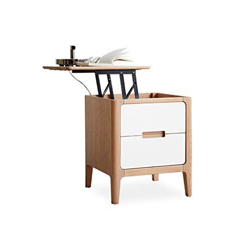TXXM Nachttisch Schlafzimmer Spind, Schlafzimmer Nachttisch, Wohnzimmer Locker, Wohnzimmer Sofa Seitenschrank (Color : Wood Color-b)
