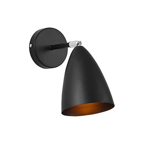 lux.pro] Lampe Murale Lampe de Mur Applique Murale Abat-Jour Mobile E14 Métal 22 x 12 x 12 cm Noir
