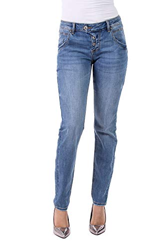 Blue Monkey Damen Jeans Manie 30143 Stickereien