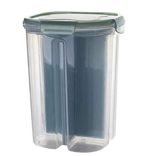 Contenedor de Almacenamiento de Alimentos 2/4 Grids Rotación de plástico Dispensador de cereales Caja de almacenamiento Cocina Caja de almacenamiento Caja de almacenamiento Frijoles Avena de la harina