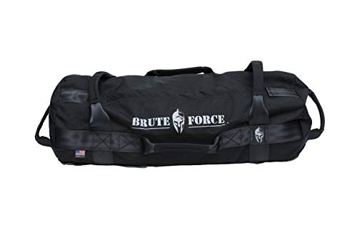 Brute Force Sandbags - Athlete Sandbag - Black - Heavy Duty Sandbags for Fitness Exercise Sandbags Military Sandbags Weighted Bags Heavy Sand Bags Weighted Home Gym