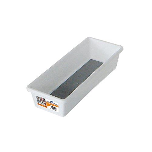 mondex PLS253-00 - Organizador para cajón, bimateria, plástico, 22,8x 7,6x 5cm, Color Blanco