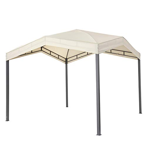 Tepro Pavillon beige MARABO 305x305x275 cm Garten Camping Terrasse 5533