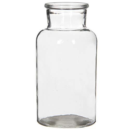 Annastore 6 x Glasvase Vintage H ca. 20 cm in Apothekerflaschen-Optik - Dekoflaschen - Glas Flaschen - Deko Flaschen Vintage - Deko Glas Vasen