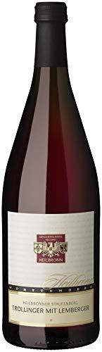 Württemberger Wein Heilbronner Staufenberg Trollinger mit Lemberger QW halbtrocken (1 x 1,0l)