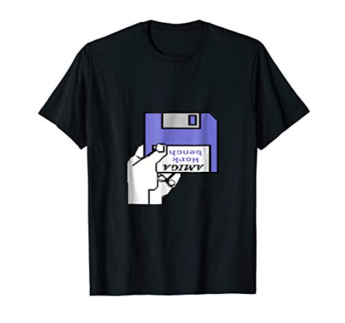 Amiga Workbench Insert Disk T-Shirt for Men, Women, 5 Colors, S to 3XL