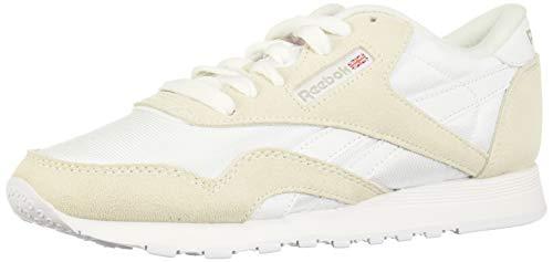 Reebok CL Nylon, Zapatillas de Gimnasio para Mujer, White Light Grey None, 37 EU