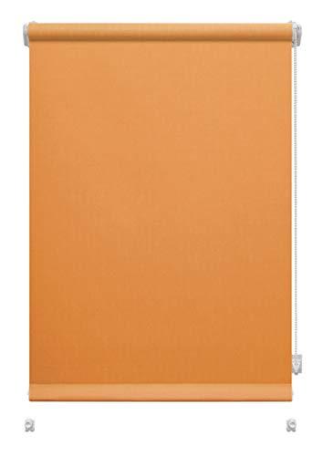 havalime GARDINIA Rollo zum Klemmen oder Kleben, Tageslicht-Rollo, Blickdicht, Alle Montage-Teile inklusive, EASYFIX Rollo Uni (Orange, 57 x 150 cm)