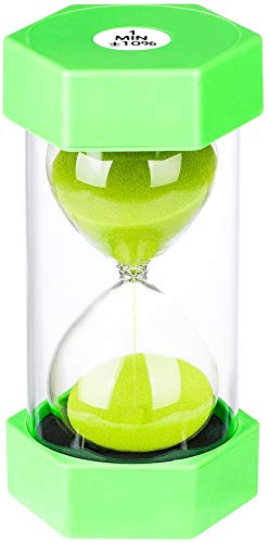 SuLiao Hourglass Timer Sand Clock 1 Minute:Colorful Sand Timer,Small Blue Sand Watch one Minute,Plastic Hour Glass Sandglass Timer for Kids, Games, Classroom, Kitchen, Decorative